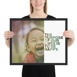 "Open image in slideshow, Customizable Motivational Framed Premium Poster. ""The purpose of our lives is to be happy."" -Dalai Lama - Next Art Lab"