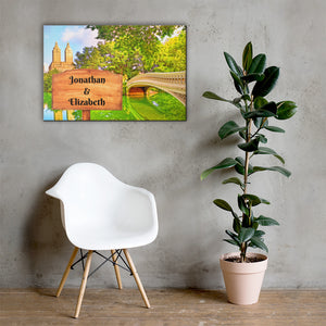 Open image in slideshow, Love in Central Park Customizable Premium Canvas Art - Next Art Lab