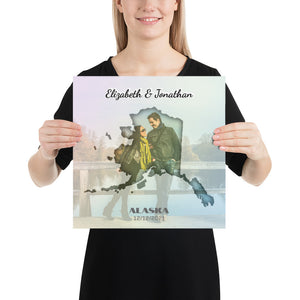 Alaska State Of Love, Mark your memories with this customizable primum poster - Next Art Lab