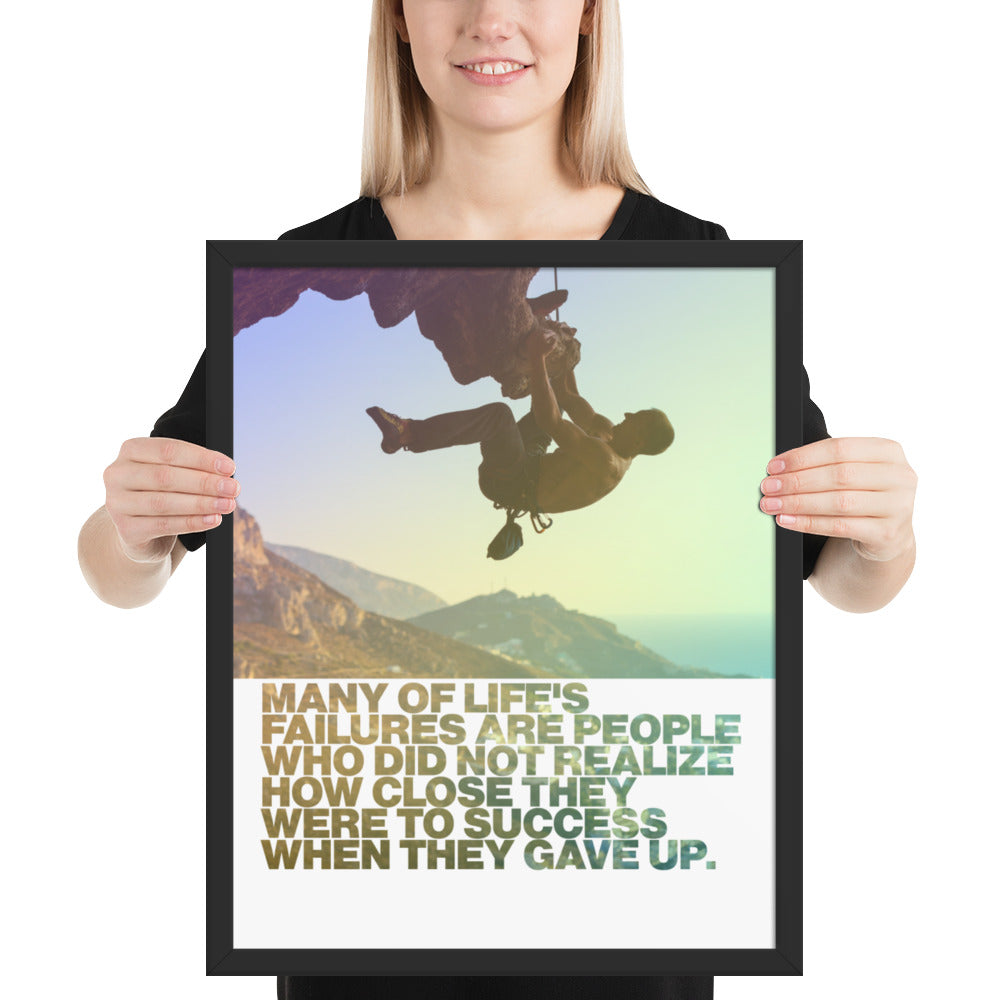 "Customizable Motivational Framed Premium Poster. ""Success is not final; failure is not fatal: It is the courage to continue that counts."" -Winston S. Churchill - Next Art Lab"
