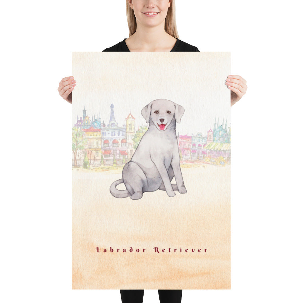 Labrador Retriever Dog Pet Art - Customizable Hand Drawn Watercolor Style Poster For Pet Lovers - Next Art Lab