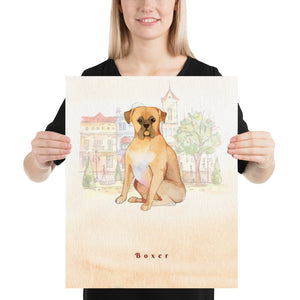 Open image in slideshow, Boxer Dog Pet Art - Customizable Hand Drawn Watercolor Style Poster For Pet Lovers - Next Art Lab