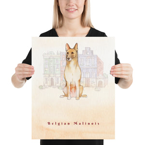 Open image in slideshow, Belgian Malinois Dog Pet Art - Customizable Hand Drawn Watercolor Style Poster For Pet Lovers - Next Art Lab
