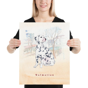 Open image in slideshow, Dalmatian Dog Pet Art - Customizable Hand Drawn Watercolor Style Poster For Pet Lovers