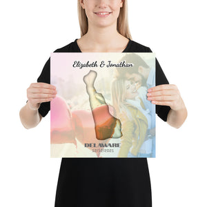 Open image in slideshow, Delaware State Of Love, Mark your memories with this customizable premium poster - Next Art Lab