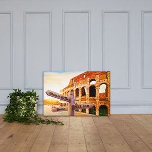 Open image in slideshow, Love in Rome Customizable Premium Canvas Art - Next Art Lab