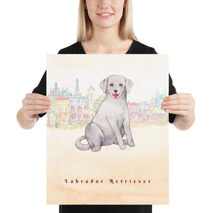 Open image in slideshow, Labrador Retriever Dog Pet Art - Customizable Hand Drawn Watercolor Style Poster For Pet Lovers - Next Art Lab