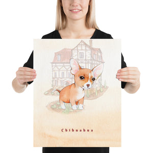 Chihuahua Dog Pet Art - Customizable Hand Drawn Watercolor Style Poster For Pet Lovers - Next Art Lab