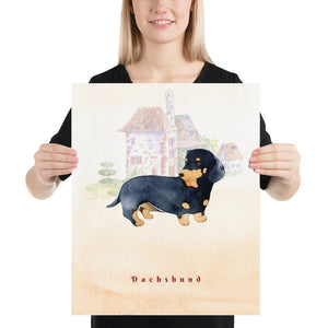Open image in slideshow, Dachshund Dog Pet Art - Customizable Hand Drawn Watercolor Style Poster For Pet Lovers - Next Art Lab