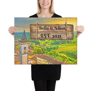 Love in Italy Customizable Premium Canvas Art - Next Art Lab