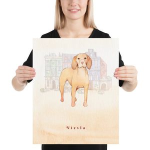 Open image in slideshow, Vizsla Dog Pet Art - Customizable Hand Drawn Watercolor Style Poster For Pet Lovers - Next Art Lab