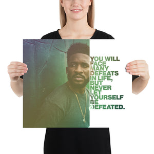 "Open image in slideshow, Customizable Motivational Premium Poster. ""You will face many defeats in life, but never let yourself be defeated."" -Maya Angelou - Next Art Lab"