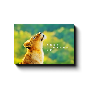 Open image in slideshow, Keep Looking Up - Lion Cub - Inspirational Art Premium Canvas By Next Art Lab