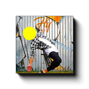 Open image in slideshow, Fly - Street Dancer - Inspirational Art Premium Canvas By Next Art Lab