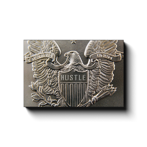 Open image in slideshow, Hustle - Eagle Coin - Inspirational Art Premium Canvas By Next Art Lab