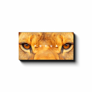 Open image in slideshow, Focus - Lion eyes - Inspirational Art Premium Canvas By Next Art Lab