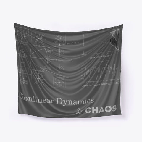 Nonlinear Dynamics & Chaos, Dark Grey Wall Tapestry