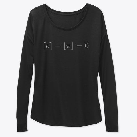 The Most Beautiful Equation, Women's Flowy Long Sleeve Tee