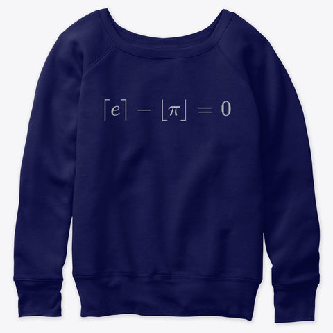 The Most Beautiful Equation, Women's Slouchy Sweatshirt