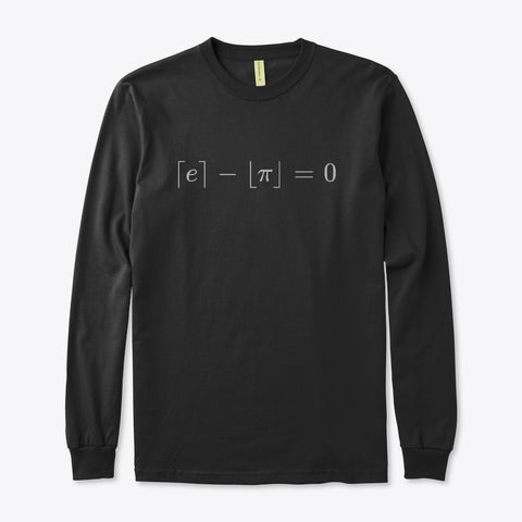 The Most Beautiful Equation, Organic Long Sleeve Tee