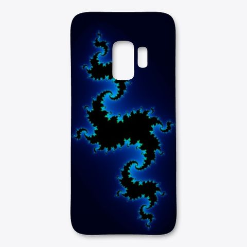 Julia Fractal Blue Color Coding, Samsung Case