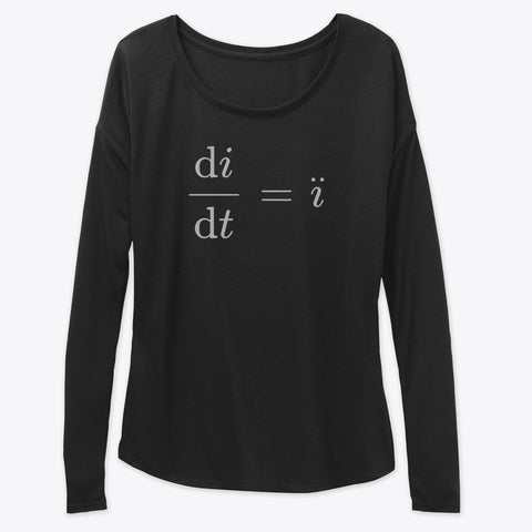 Cursed Math Memes - ï Double Dot, Women's Flowy Long Sleeve Tee