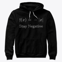 Stay Negative, Premium Pullover Hoodie