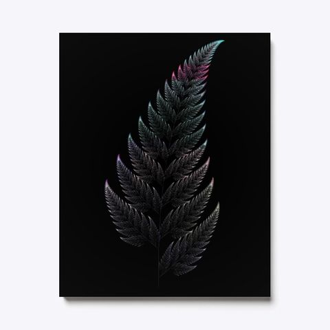 Barnsley Fern Fractal Green, Canvas Print