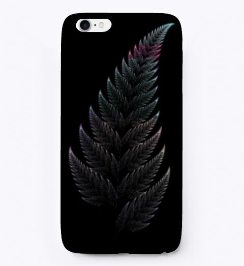 Barnsley Fern Fractal Green, iPhone Case