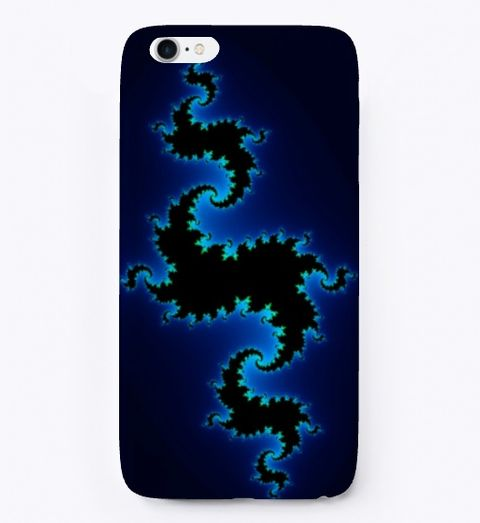 Julia Fractal Blue Color Coding, iPhone Case