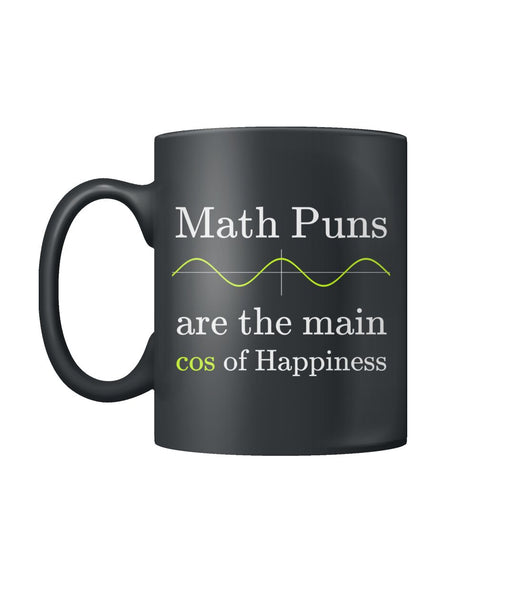 Math puns are the main cos of Happiness - Left Handed Mug