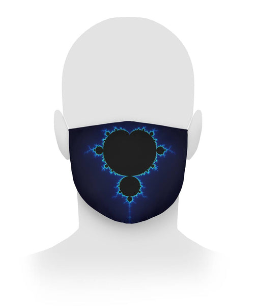 Mandelbrot Fractal Blue Color Coding, Face Mask Cloth Face Mask
