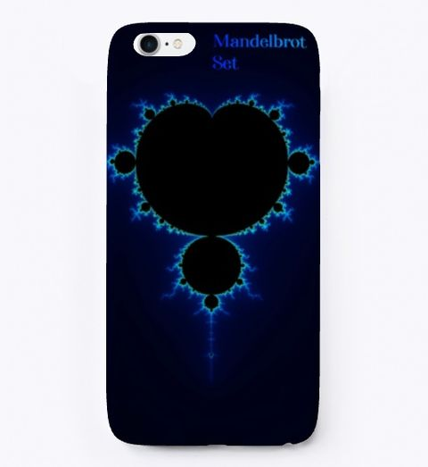 Mandelbrot Fractal Blue Color Coding, iPhone Case