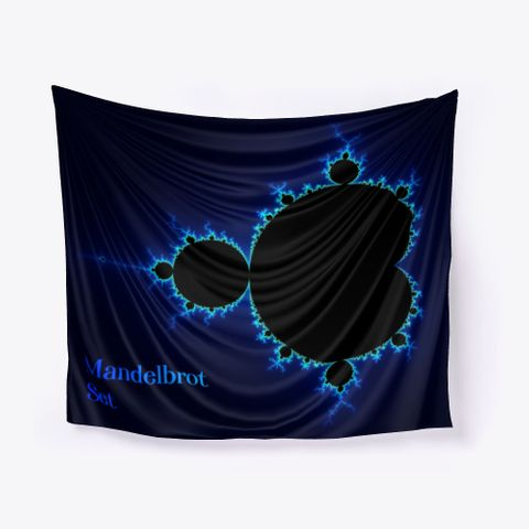 Mandelbrot Fractal Blue Color Coding, Wall Tapestry