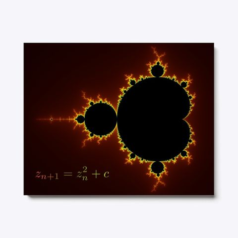 Mandelbrot Fractal Red Color Coding, Canvas Print