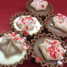 Load image into Gallery viewer, Bag of Mini Milk Chocolate Candy Cane Cupcakes | Chocolat in Kirkby Lonsdale