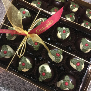 Box Of Rum Truffle Mini Christmas Puddings