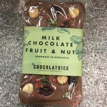 Load image into Gallery viewer, Handmade Milk Chocolate Bar topped with Fruit and Nuts by LA CHOCLATRICE