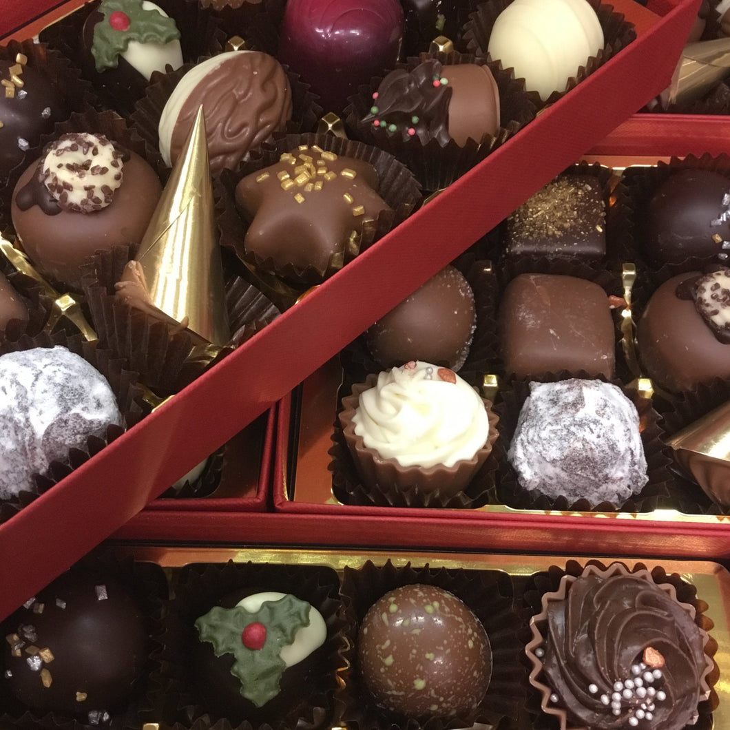 Limited Edition 'Christmas Crackers' Chocolate Selection Box | Chocolat in Kirkby Lonsdale