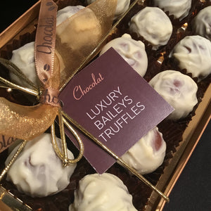 Box of Luxury White Chocolate Covered Baileys Truffles | Chocolat in Kirkby Lonsdale