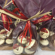 Load image into Gallery viewer, Bag of Milk Chocolate and Salted Caramel Santa Cupcakes | Chocolat in Kirkby Lonsdale