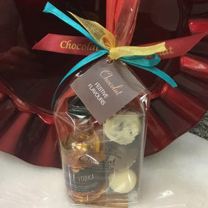 Kin Toffee Vodka Mini and Festive Flavours Triple Chocolate Gift Pack