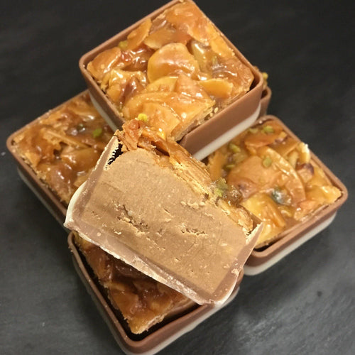 Bag of 5 Florentine Topped Praline Squares | Chocolat in Kirkby Lonsdale
