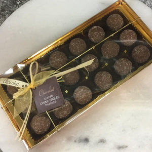 Box of Luxury Creme Brûlée Truffles