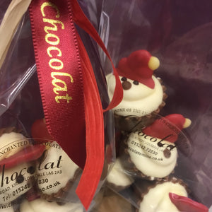 Bag of Milk Chocolate and Salted Caramel Santa Cupcakes | Chocolat in Kirkby Lonsdale