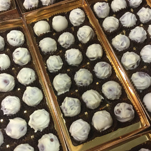 Box of White Chocolate Covered Champagne Truffles | Chocolat in Kirkby Lonsdale