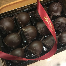 Load image into Gallery viewer, Box of Dark Chocolate Cherries in Kirsch Liqueur | Chocolat in Kirkby Lonsdale