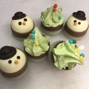 Bag of Mixed Snowman and Christmas Tree Praline Cups