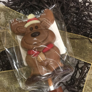 Assorted Christmas Character Chocolate Lollipops by Belfine | Chocolat in Kirkby Lonsdale