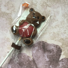 Load image into Gallery viewer, Belgian Milk Chocolate Teddy and Heart Lollipop by BELFINE